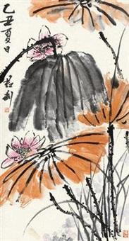 夏日荷花 立轴 设色纸本 by qian juntao