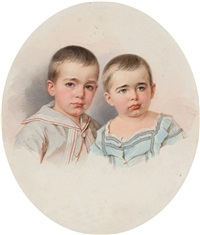 portrait of count pavel sergeevich sheremetev and count piotr sergeevich sheremetev by vladimir ivanovich hau