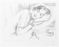 figure endormie aux babouches by henri matisse