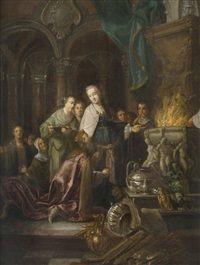 the idolatry of solomon by frans francken the younger