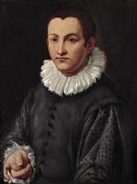 halbfiguriges bildnis eines jungen mannes by alessandro di cristofano allori