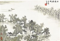 江南春晓 (spring in jiangnan) by li xiaoke