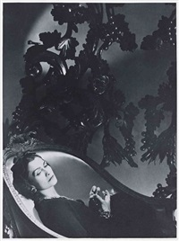 coco chanel, dans sa suite à l'hôtel ritz, paris (9 works) by horst p. horst