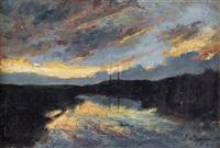tramonto sul fiume by luigi martini