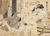 keichû majura nishiki (portfolio of 10) (chûban) by katsukawa shuncho