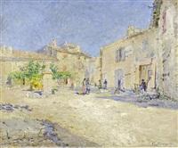 place de village en provence by julien gustave gagliardini