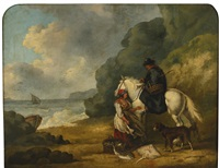 selling fish by george morland