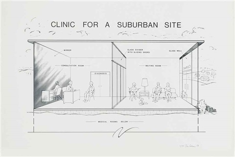 clinic for a suburban site by dan graham
