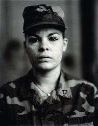 p.f.c. maria i. leon, u.s. army reserve, on red alert, gulf war by judith joy ross