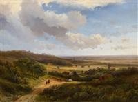 weite holländische landschaft im sommer by pieter lodewijk francisco kluyver