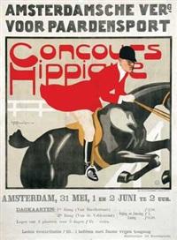 amsterdamsche verg. voor paardensport concours hippique by louis raemaekers