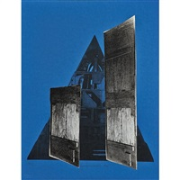 facade portfolio (12 works) by louise nevelson