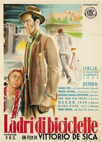 the bicycle thief ladri di biciclette by ercole brini