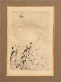 figure along the beach by pierre-auguste renoir