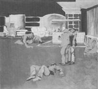 interieur mit figuren by matthias koeppel