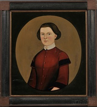 portrait of a young woman wearing a red dress by american school-prior-hamblen (19)