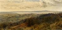 weite dänische landschaft by janus andreas barthotin la cour