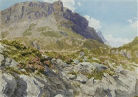 view of an alpine landscape by leonhard steiner