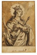 die hl. katharina von alexandrien in halbfigur by abraham van diepenbeeck