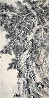 松竹图 by qian shu