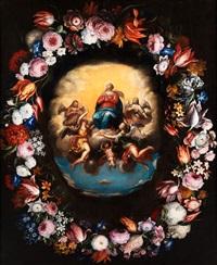 himmelfahrt mariens im blumenkranz by jan brueghel the younger and peeter van avont