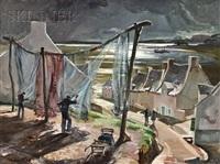 fishermen drying their nets by trafford partridge klots