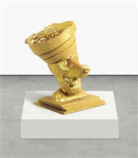 gold butter dog 1, guggenheim crown, silicon by paul mccarthy