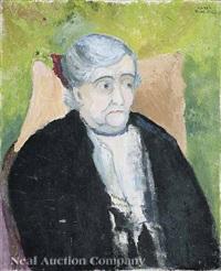 portrait of woman (florette guggenheim?) by hazel guggenheim mckinley