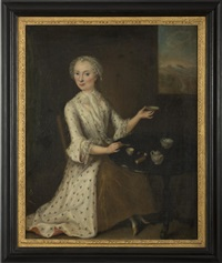 portrait of a lady serving tea by anonymous-british (18)