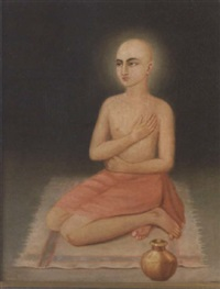 portrait of sri krishna chaitanya mahaprabhu as gaurasundar by indian school-bengal (19)