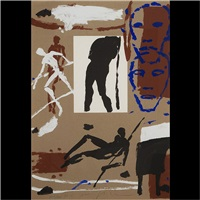 composition pour les jo by mimmo paladino