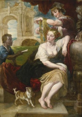 bathsheba at the fountain by sir peter paul rubens