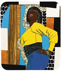 don't forget about me (keri) by mickalene thomas