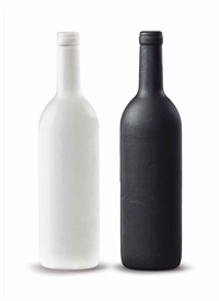 white bottle and black bottle i (2 works) by sherrie levine