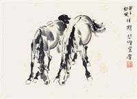 双马 by xu beihong