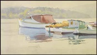coastal scene with boats by walter joseph phillips