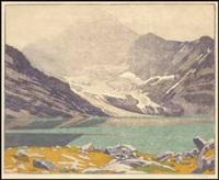 lake macarthur, canadian rockies by walter joseph phillips
