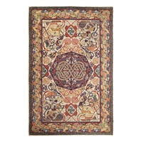 a celtic pattern hunting rug by george bain