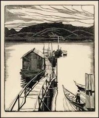 the floating dock, mamalilicoola by walter joseph phillips