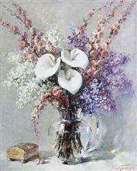 bouquet d'arums by simon van gelderen