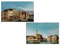 venezianische stadtansichten (pair) by francesco tironi
