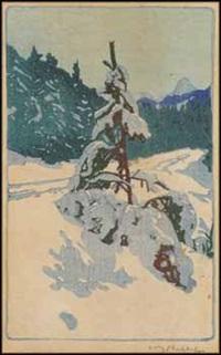 winter road by walter joseph phillips