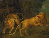 löwe und leopard by juriaen jacobsz