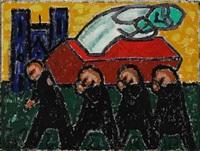 funeral scene by henry heerup