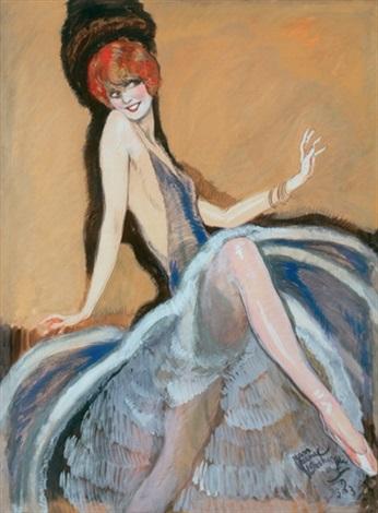 la danseuse diane belli by jean gabriel domergue