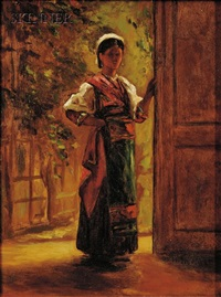 italian girl by william morris hunt