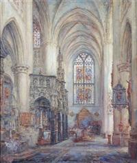 intérieur de l'église saint-gommaire à lierre by frans ros