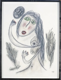 untitled - female nude by thornton dial