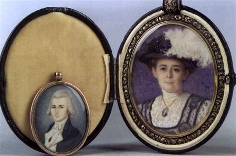 mrs johnston a armstrong né amelia leake incl miniature of francis c leake by helen maria turner