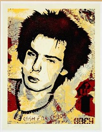 sid vicious, cash for chaos by shepard fairey